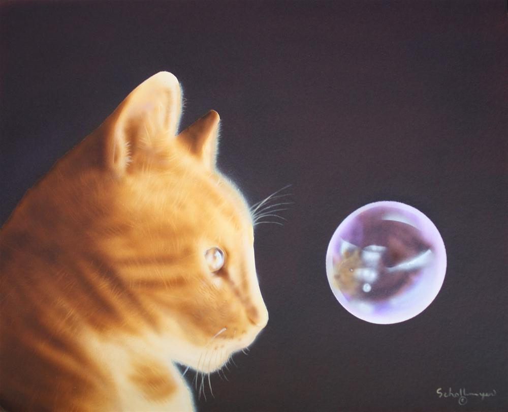 """""""In the Eye of the Cat"""" original fine art by Fred Schollmeyer"""