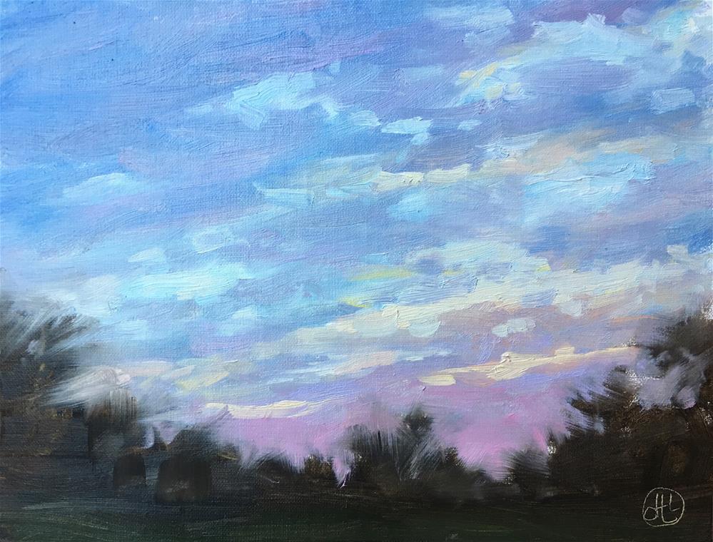 """waking up on wednesday"" original fine art by Dottie  T  Leatherwood"