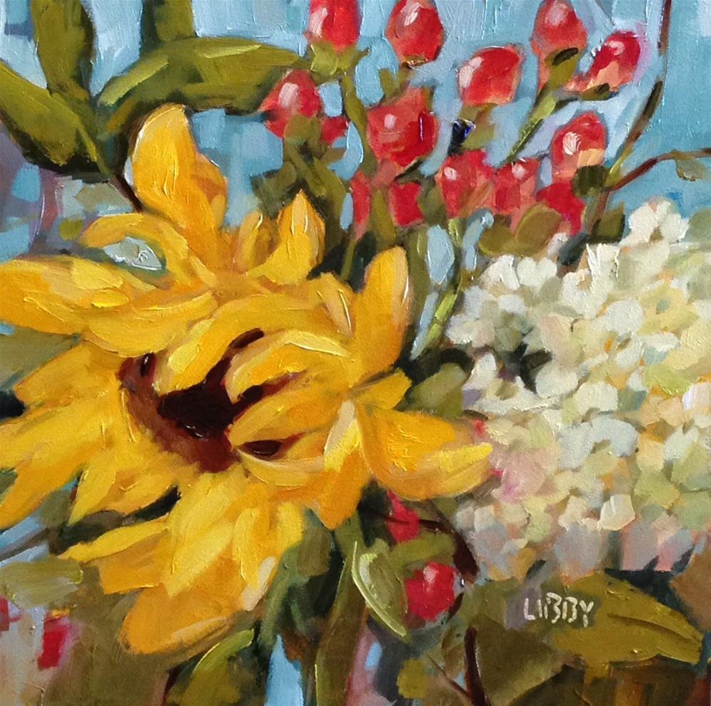 """Meadow Bouquet"" original fine art by Libby Anderson"