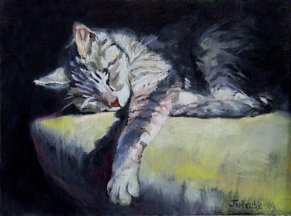 """The Perfect Spot"" original fine art by Jan Fontecchio"