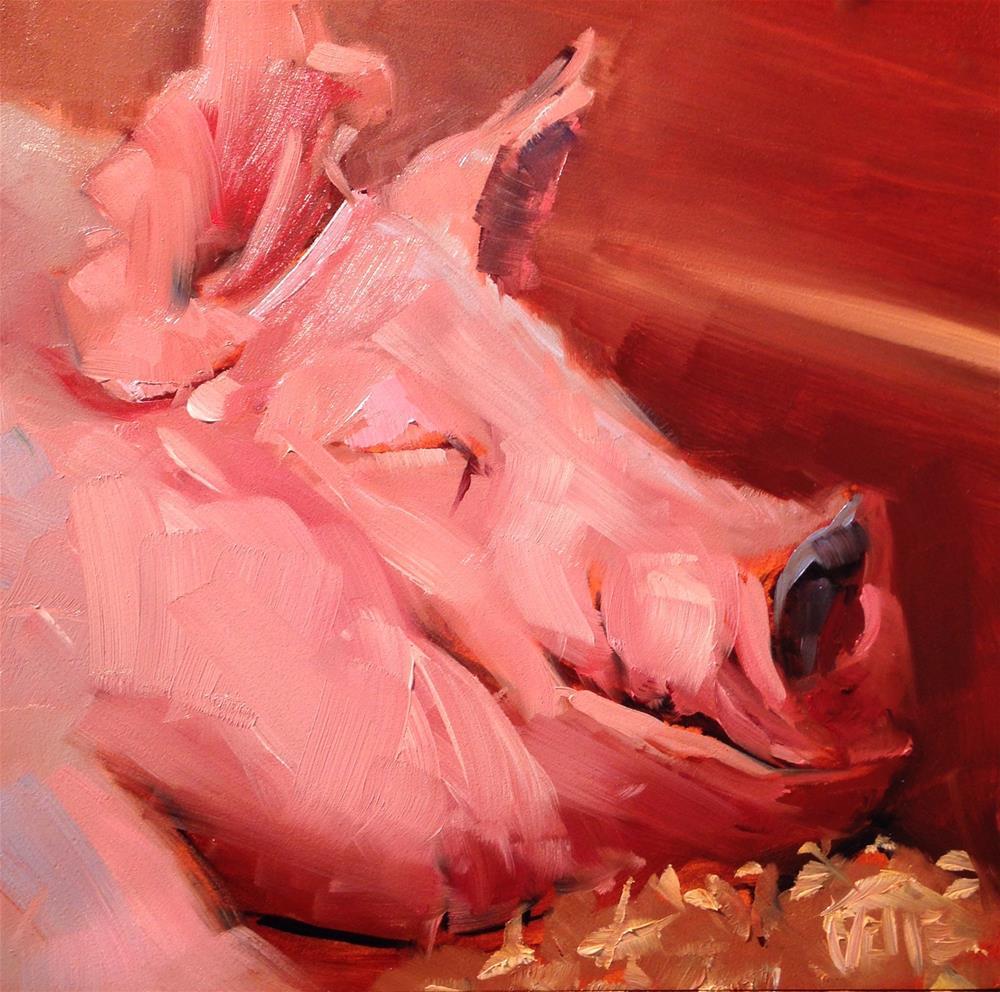 """#122 Sleeping Beauty"" original fine art by Patty Voje"