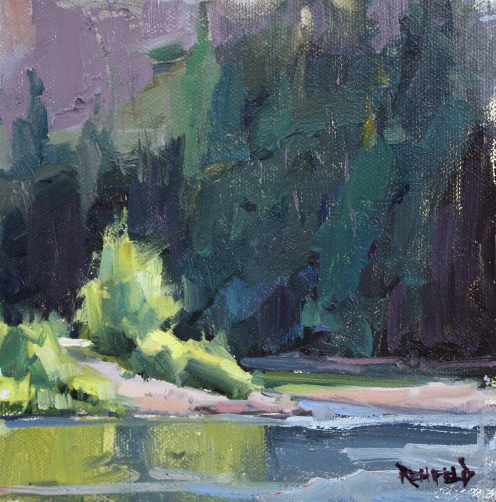 """Sunlight On The Hood River"" original fine art by Cathleen Rehfeld"