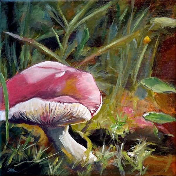 """1131 Dream Fungus"" original fine art by Dietmar Stiller"