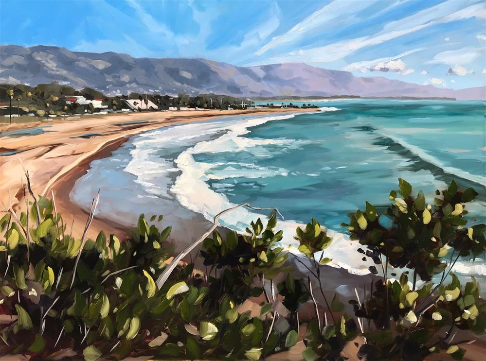 """View of Santa Barbara"" original fine art by Sharon Schock"