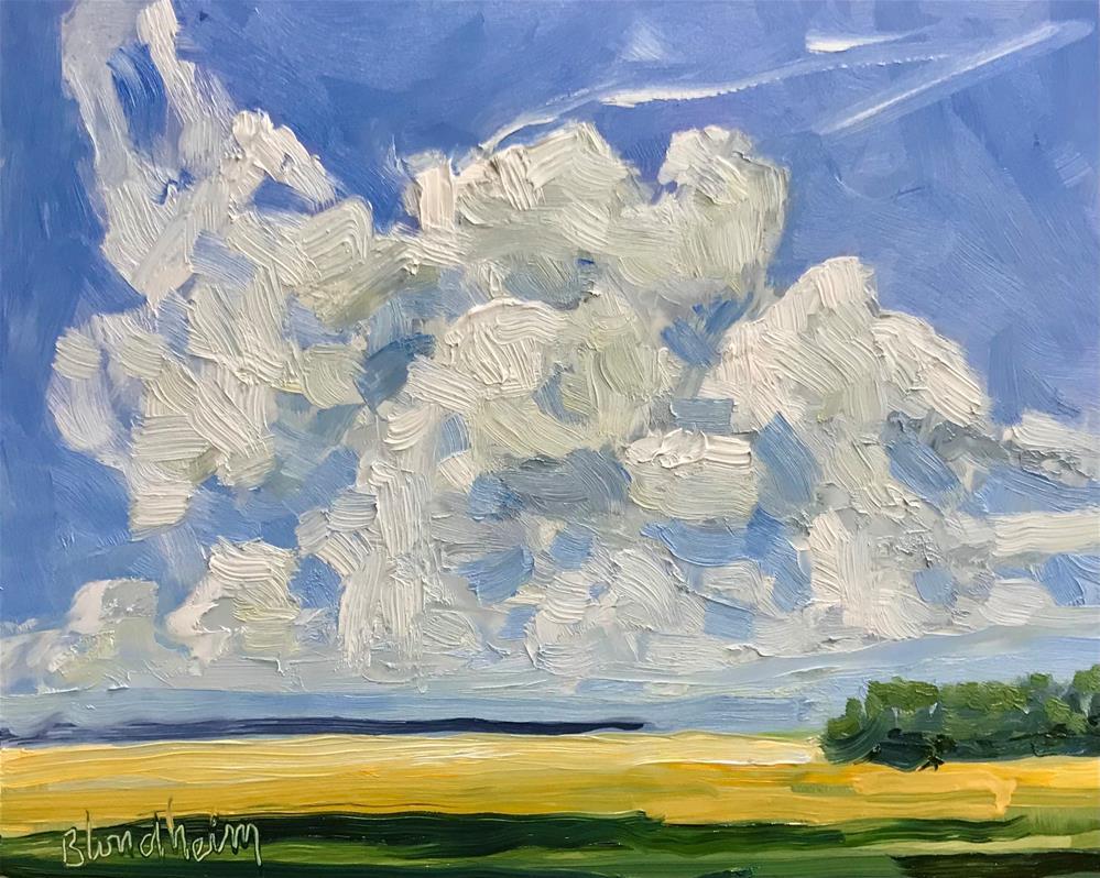 """""""Summer Clouds"""" original fine art by Linda Blondheim"""