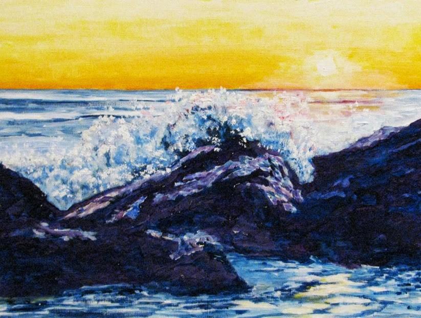 """Ocean Spray"" original fine art by Nan Johnson"