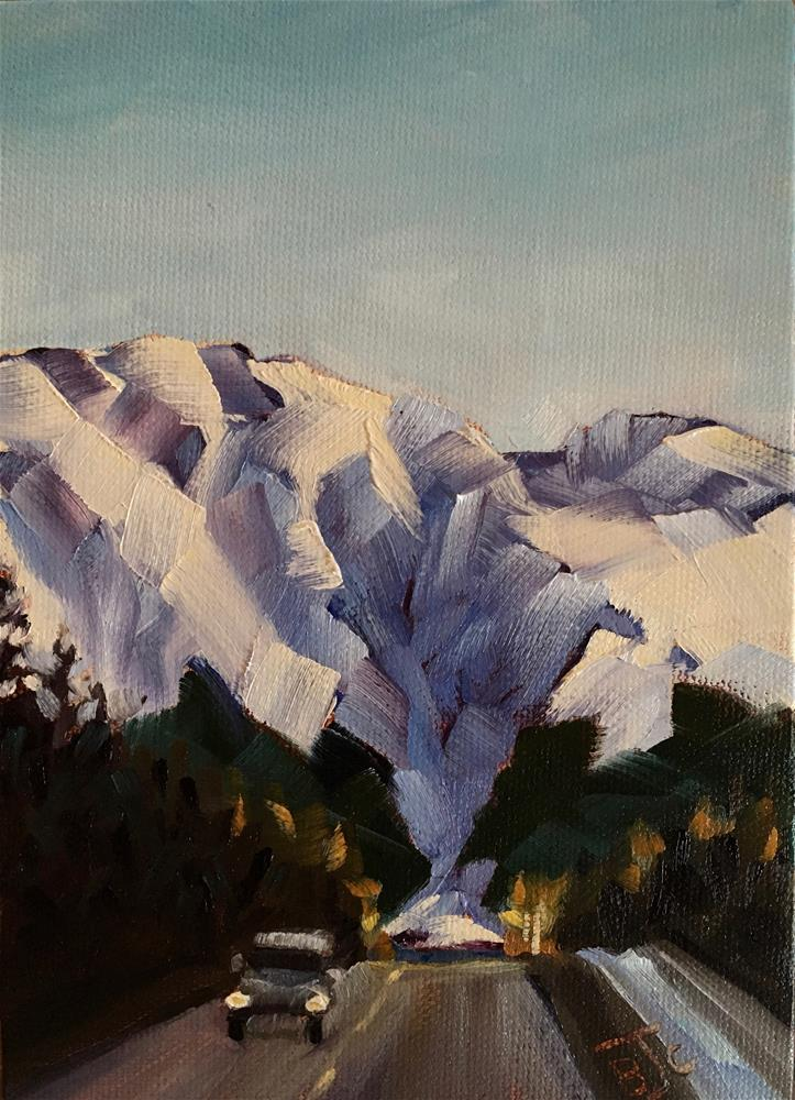 """Leaving Girdwood"" original fine art by Bobbie Cook"