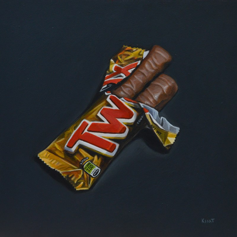 """Twix"" original fine art by Kim Testone"