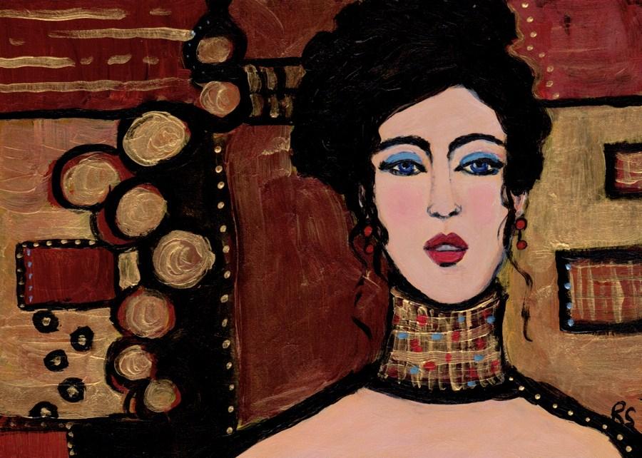 """""""Golden Circles"""" original fine art by Roberta Schmidt"""