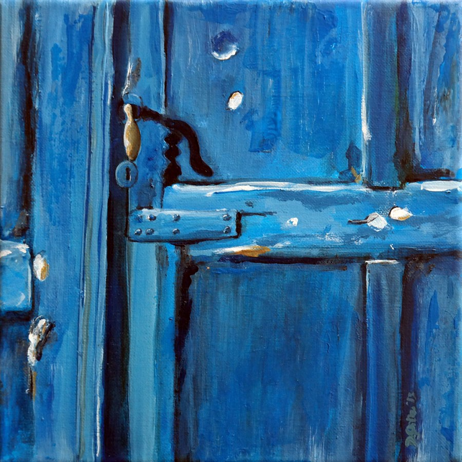 """0764 Blue Door"" original fine art by Dietmar Stiller"
