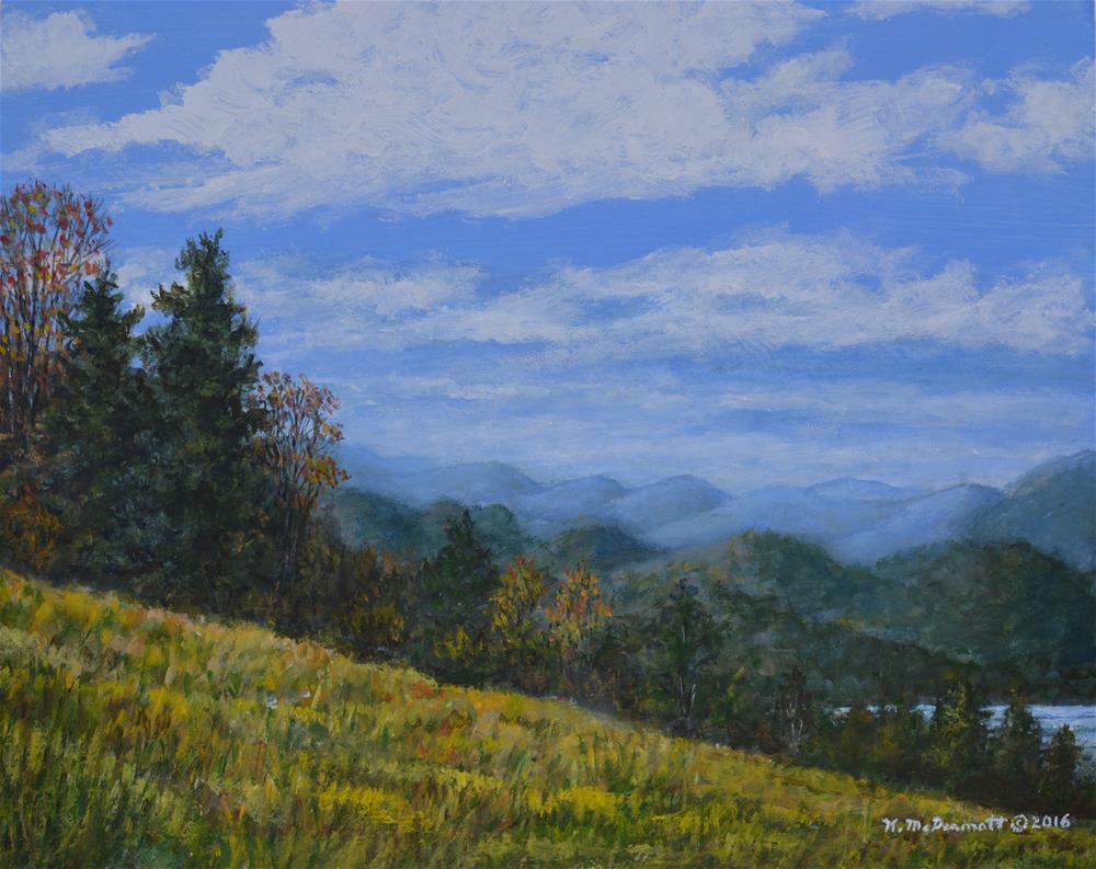 """""""BLUE RIDGE IMPRESSION (C) 2016 by K. McDermott"""" original fine art by Kathleen McDermott"""