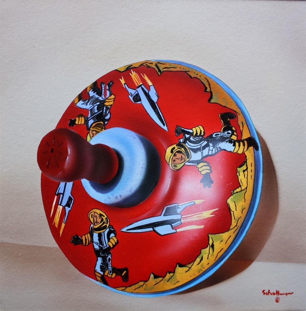 """Space Spinner"" original fine art by Fred Schollmeyer"