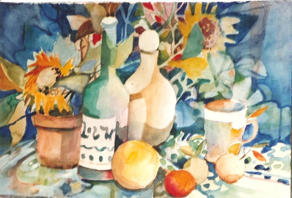 """""""bottles3"""" original fine art by meribeth coyne"""