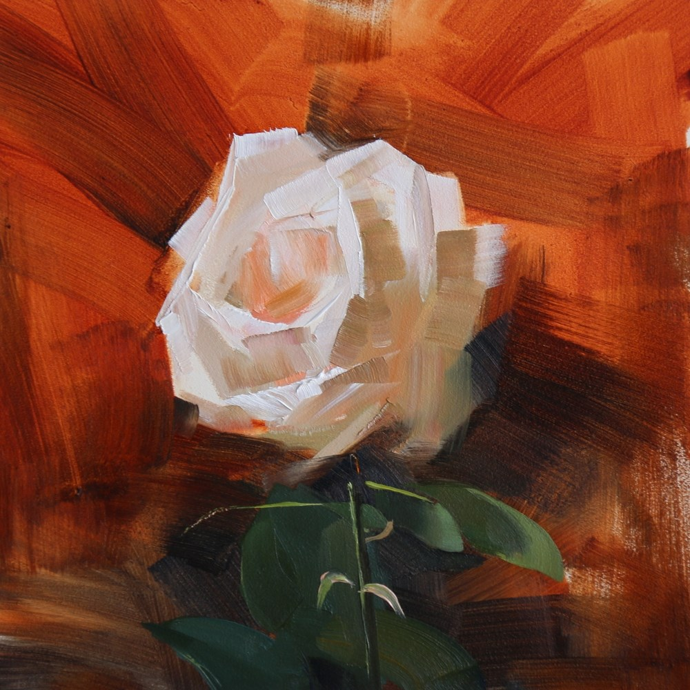 """A Lonely Rose"" original fine art by Qiang Huang"