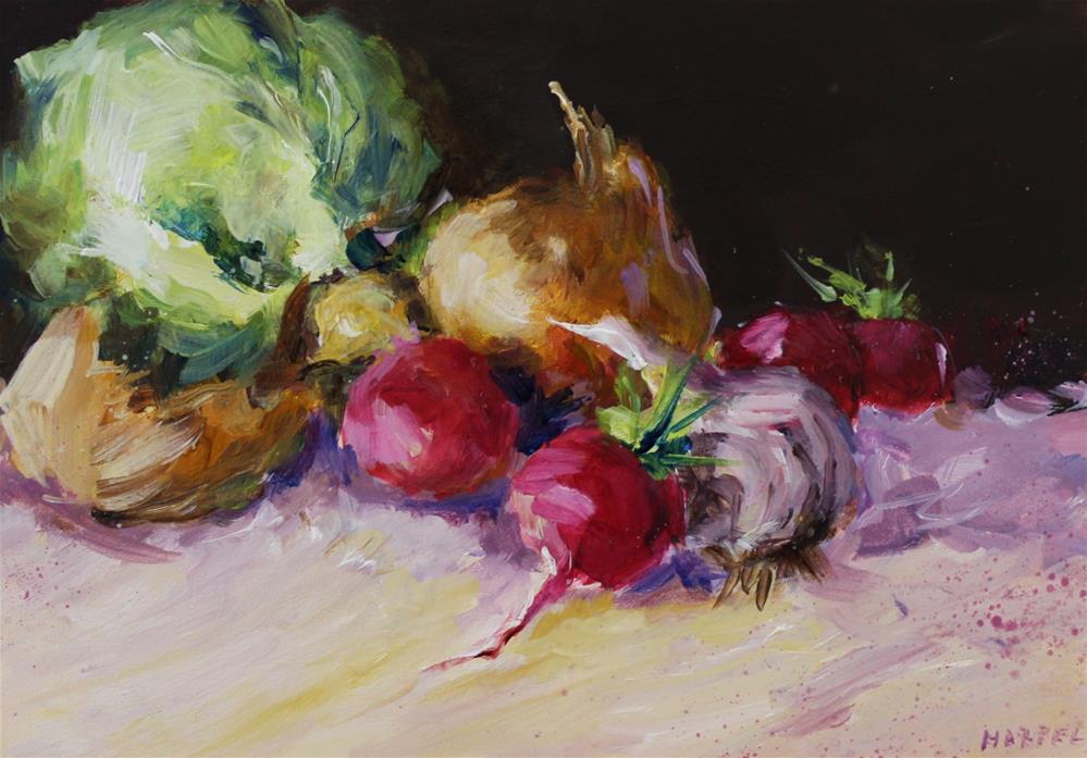 """""""Vegetable still life original painting"""" original fine art by Alice Harpel"""
