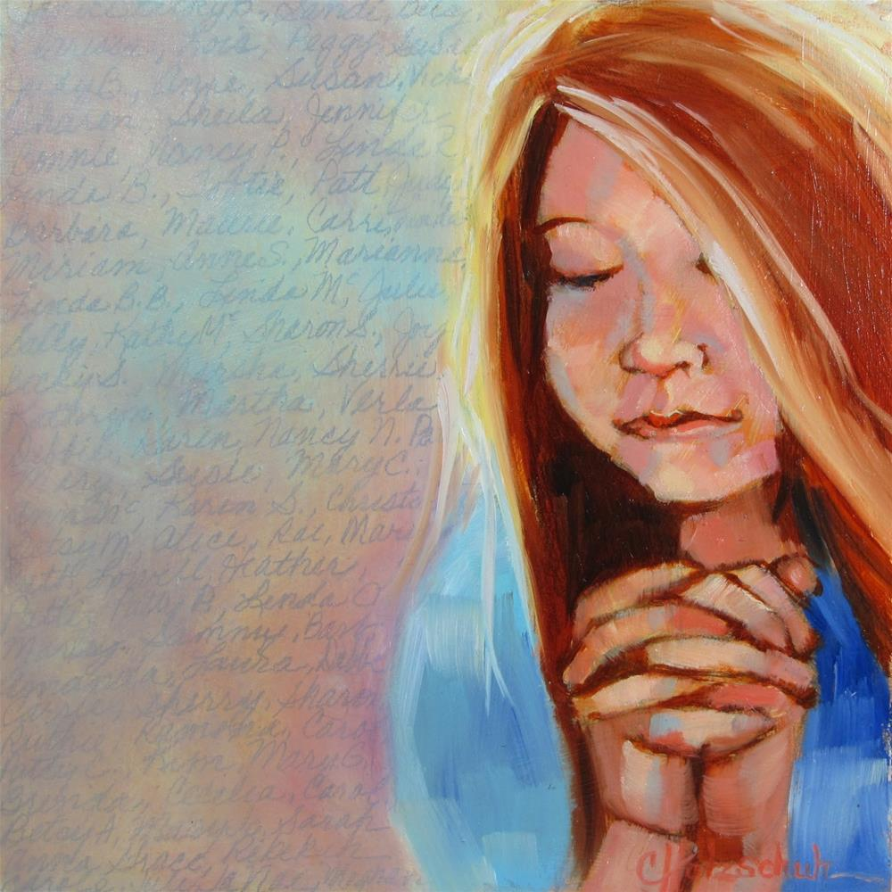 """Thank You"" original fine art by Christine Holzschuh"
