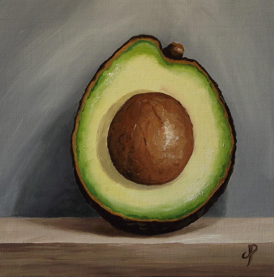 """Avocado half"" original fine art by Jane Palmer"