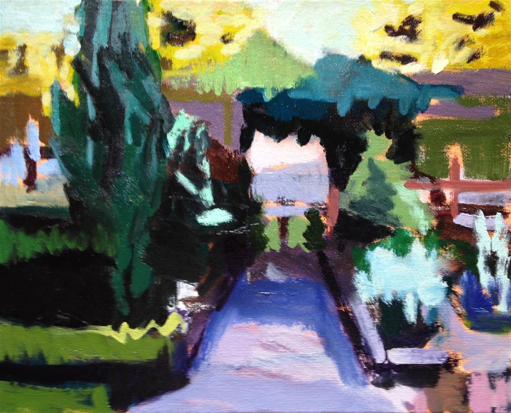 """""""View From the Porch"""" original fine art by Pamela Hoffmeister"""