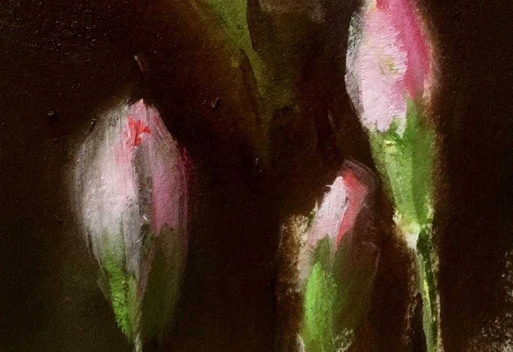 """Carnation Buds"" original fine art by Gary Bruton"