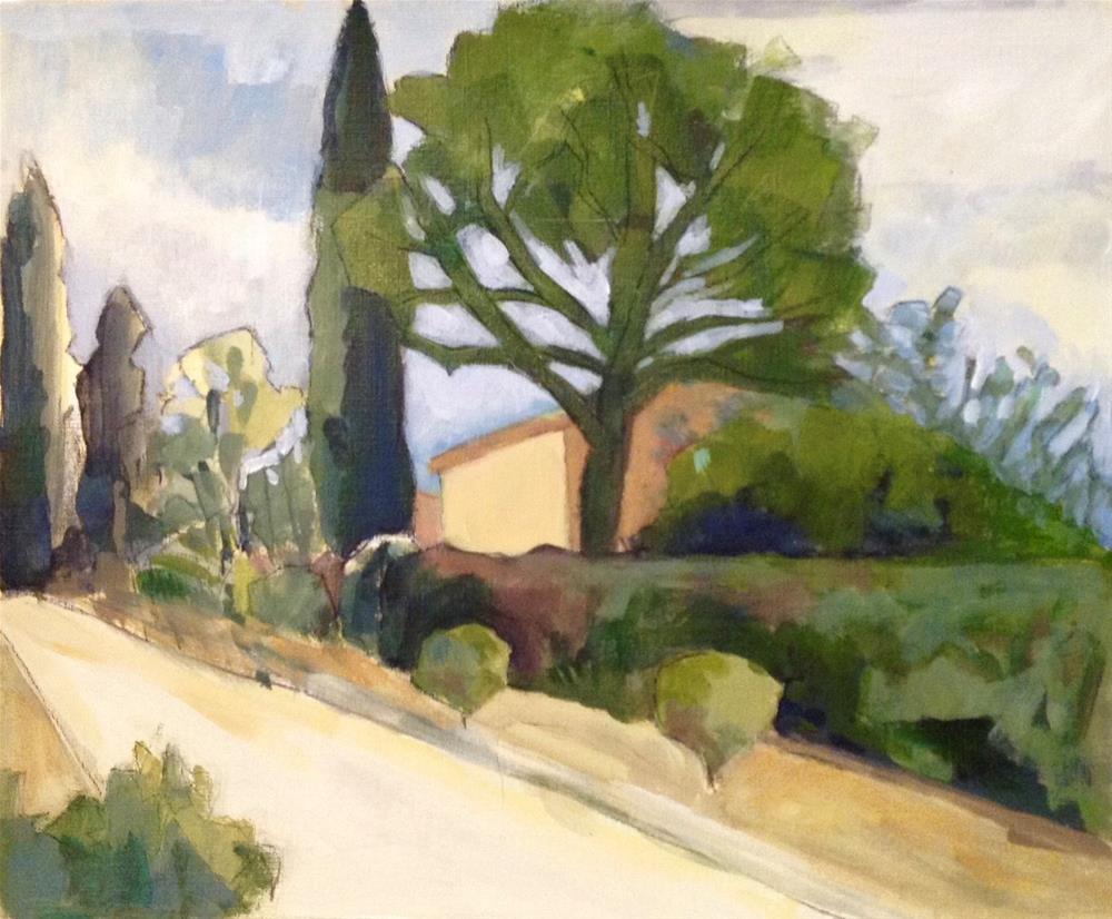 """St. Sat. Village View"" original fine art by Patricia MacDonald"