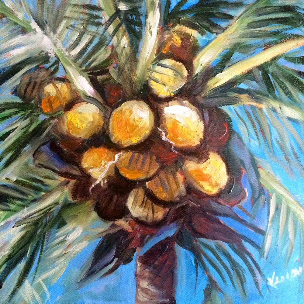 """Coconuts 2"" original fine art by Valerie Vescovi"