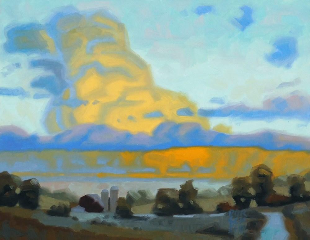 """""""Golden Farm Clouds"""" original fine art by Les Dorscheid"""