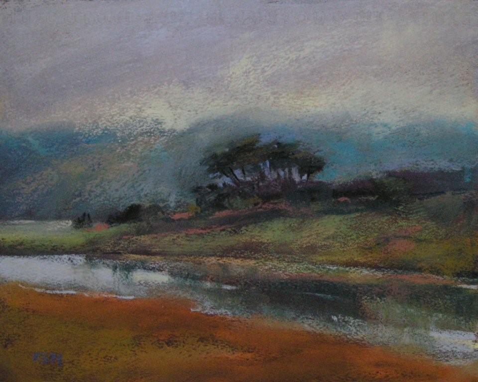 """A Moody Autumn Day"" original fine art by Karen Margulis"