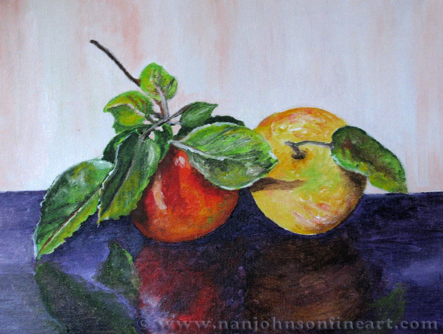 """Apples 1"" original fine art by Nan Johnson"