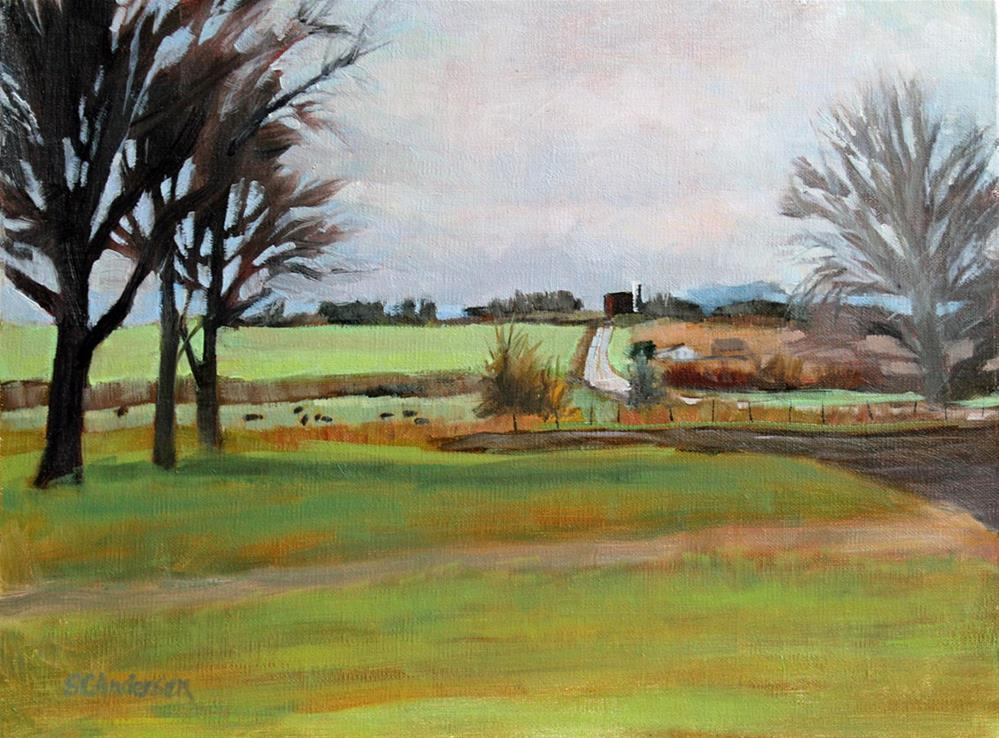 """Winter's end on the farm"" original fine art by Susan Andersen"
