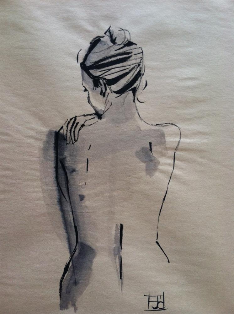 """""""womans back"""" original fine art by Arron McGuire"""