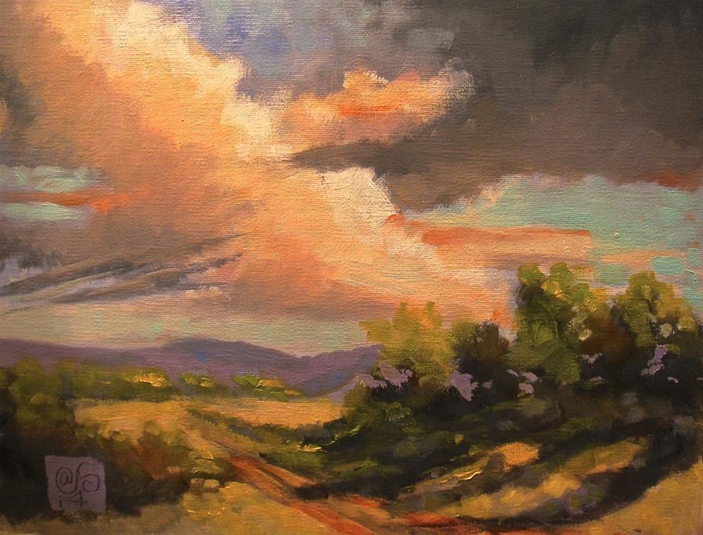 """The Cloud Crossing"" original fine art by Aurelio Saiz"