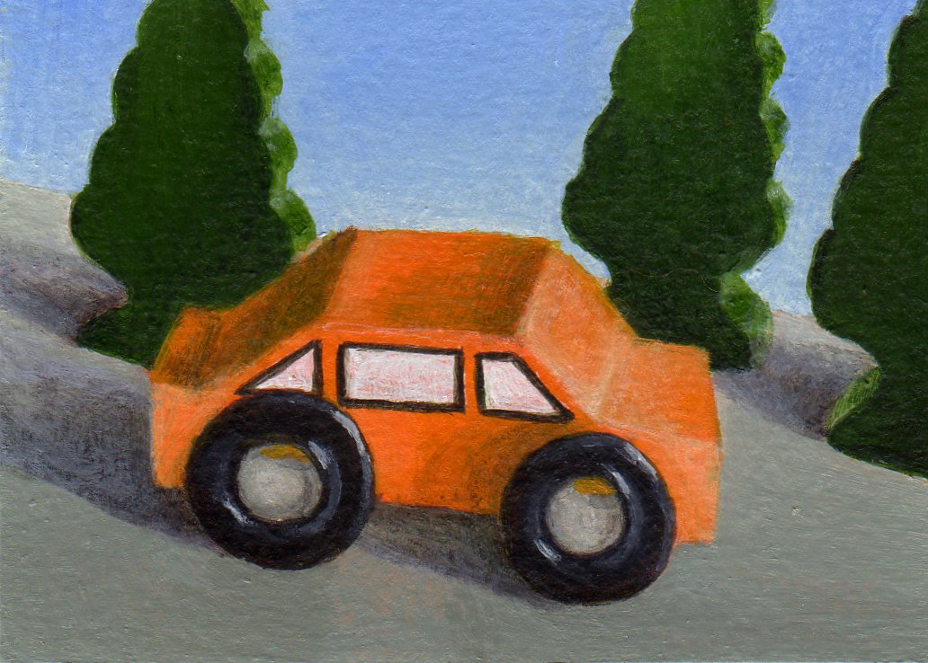 """On a Sunday Drive"" original fine art by Debbie Shirley"