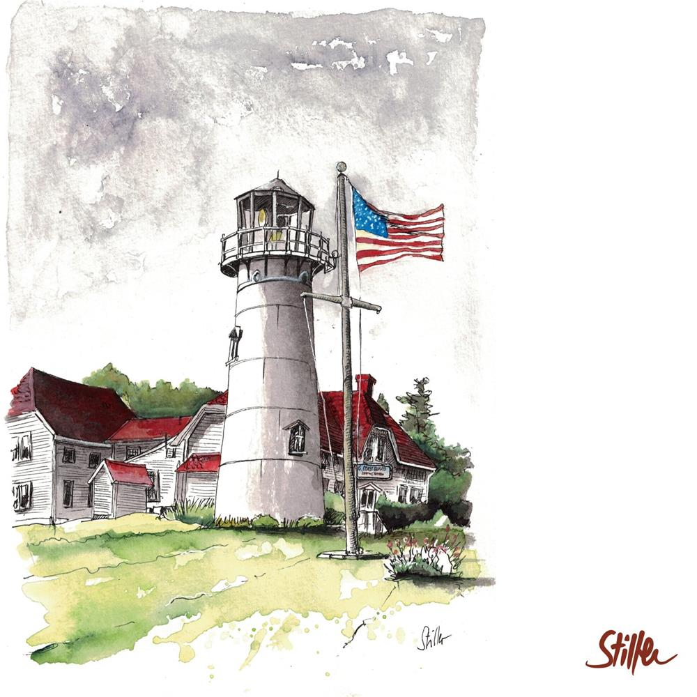 """3446 Coast Guard Station Chatham"" original fine art by Dietmar Stiller"