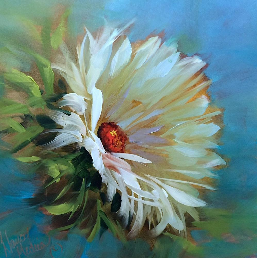 """""""Carpe Daisy and France Is Blooming"""" original fine art by Nancy Medina"""
