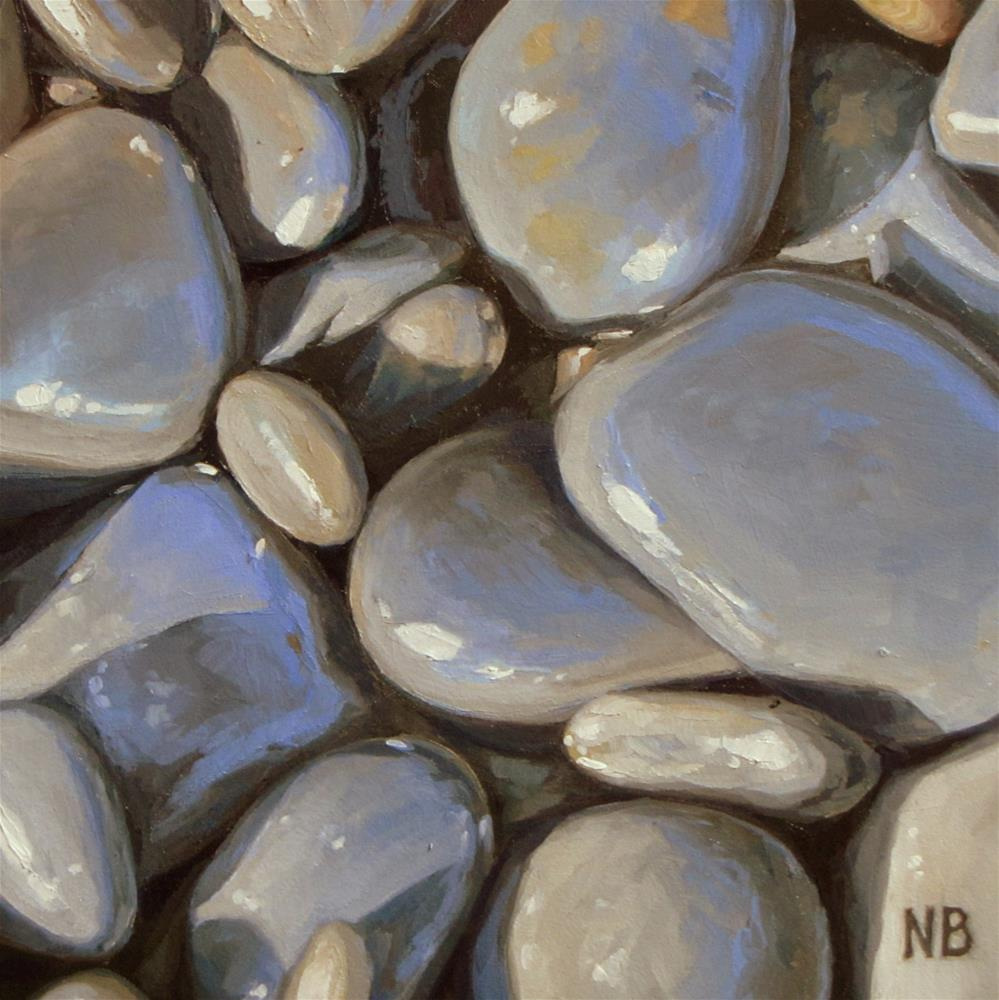 """Indian Beach Rocks"" original fine art by Nora Bergman"
