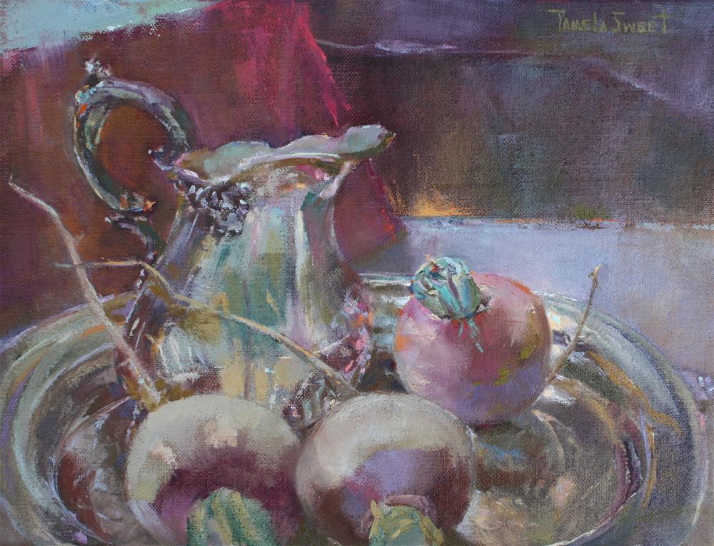 """European Turnips"" original fine art by Pamela Sweet"