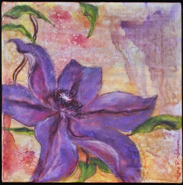 """Clematis"" original fine art by Jana Johnson"
