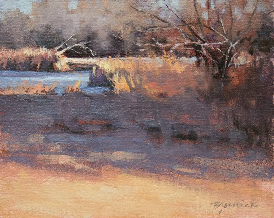 """Evening's Shadow"" original fine art by Barbara Jaenicke"