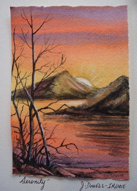 """Serenity Series No. 3"" original fine art by Jackie Irvine"
