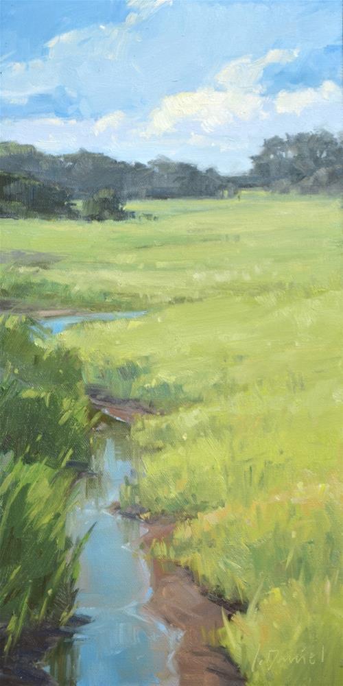 """Marshland Creek - Third Place in Fine Arts and Flowers Show!"" original fine art by Laurel Daniel"