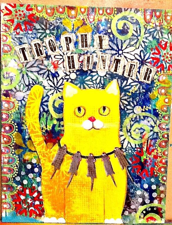 """TROPHY HUNTER"" original fine art by Cindy Zoglmann"