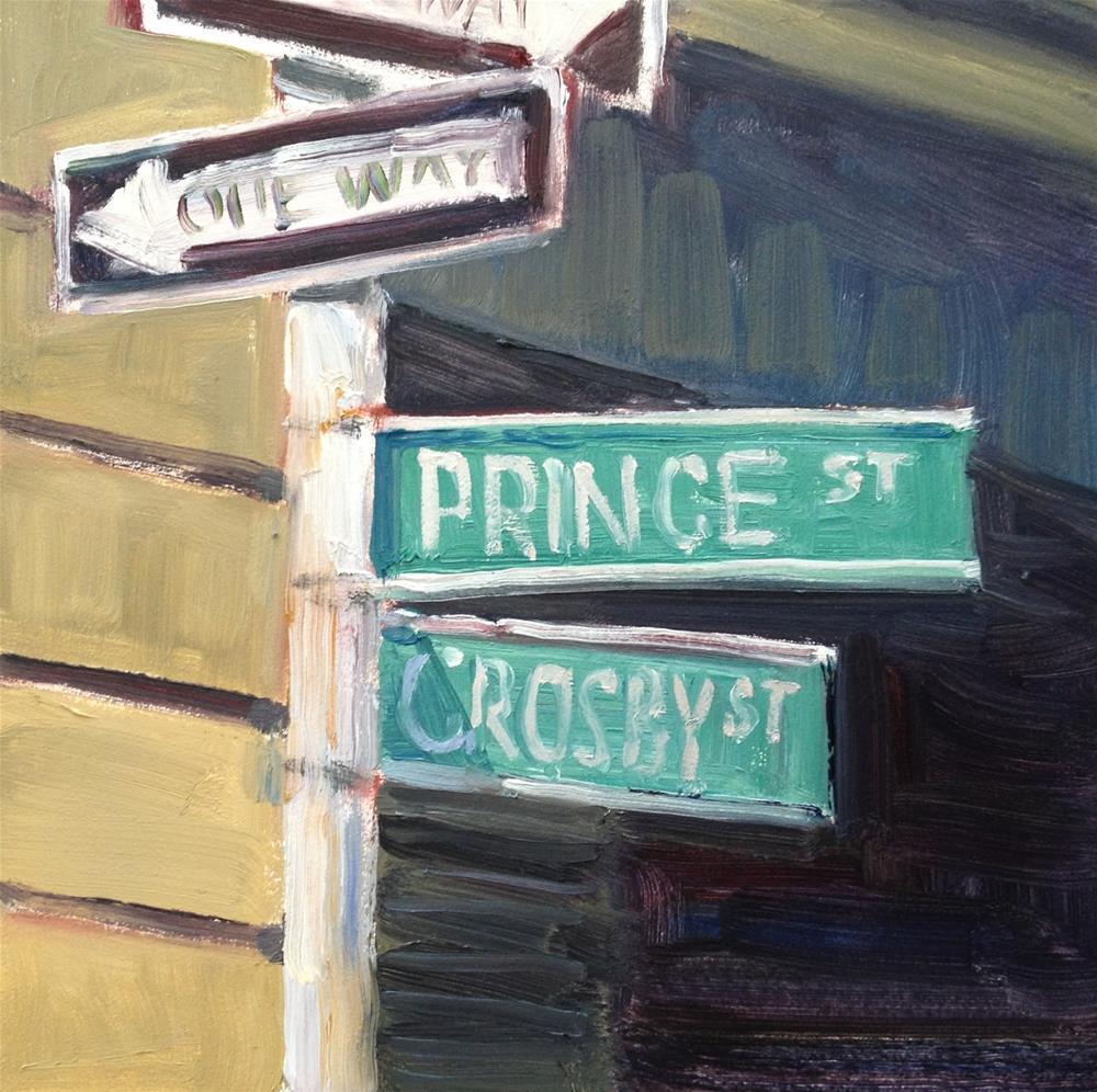 """On the Corner"" original fine art by Deborah Newman"