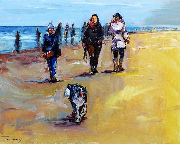 """On the North Coast"" original fine art by Jurij Frey"
