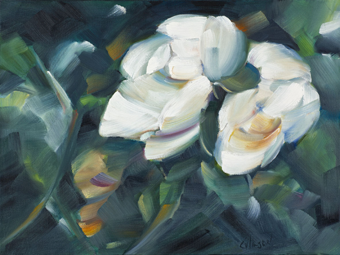 """Magnolia Pair"" original fine art by Cheryl Wilson"