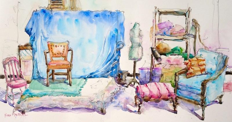 """in the studio"" original fine art by Nora MacPhail"