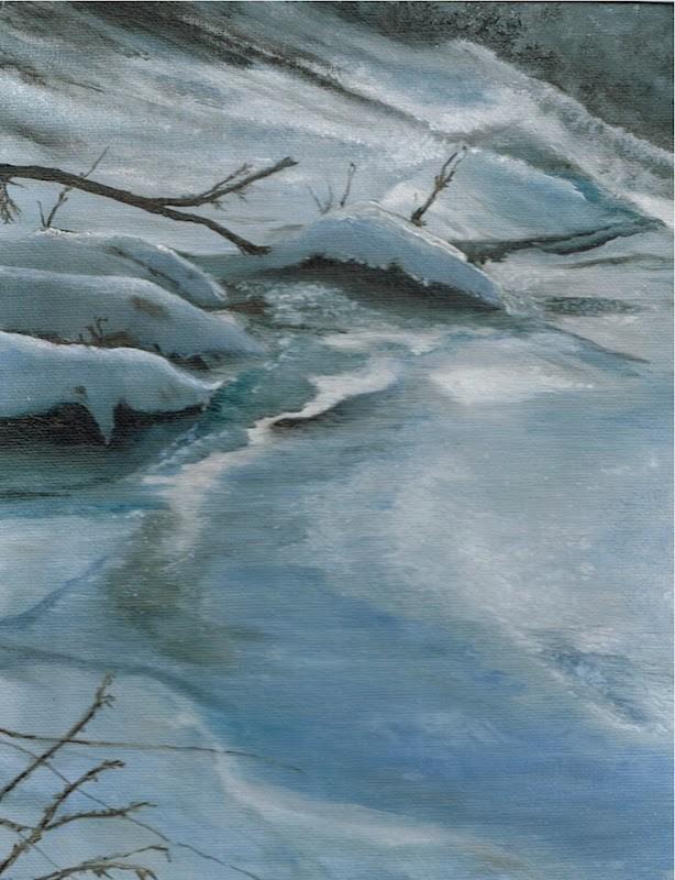 """""""Silver and Cold"""" original fine art by Karen Stitt"""