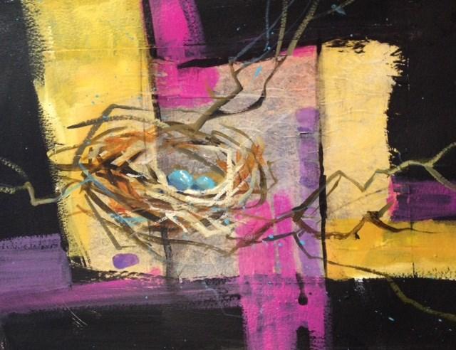 """Nest #1"" original fine art by Margie Whittington"