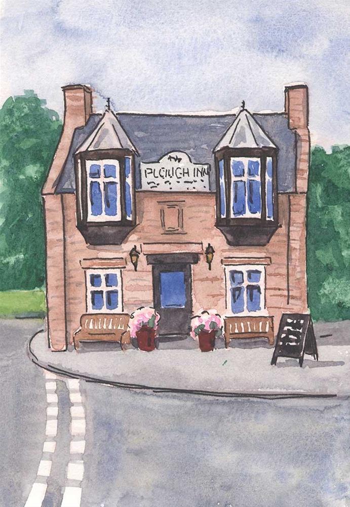 """Plough Inn Pub, Scotland"" original fine art by Kim Victoria"