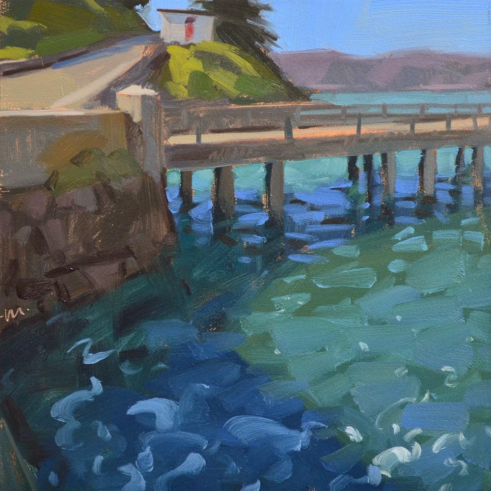 """""""Water Under the Bridge"""" original fine art by Carol Marine"""