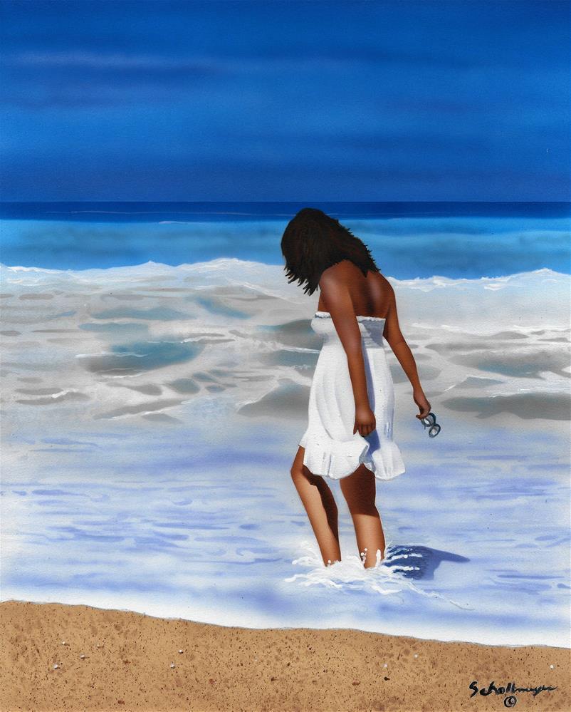 """""""Ocean Splash"""" original fine art by Fred Schollmeyer"""
